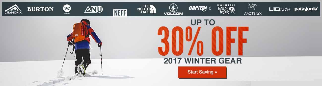 2017 Winter Gear Sale