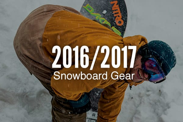 2017 Snowboard Gear