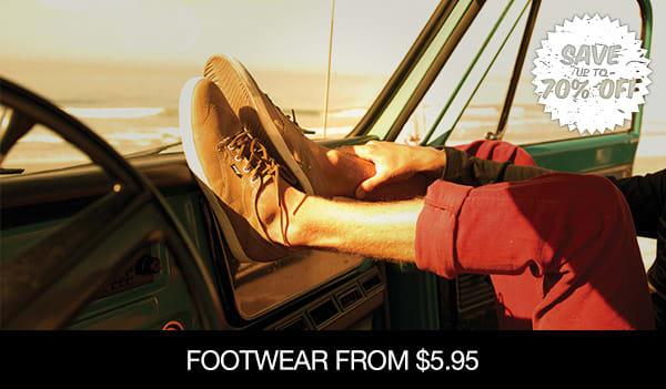 Footwear From $26.95 �