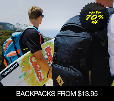 Backpacks From $15.95 �